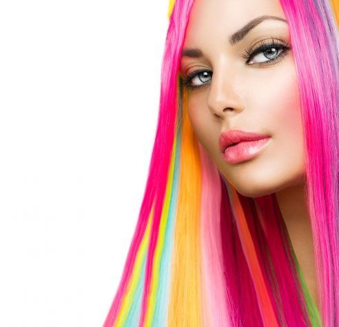 Bright Yellow Hair Stripe