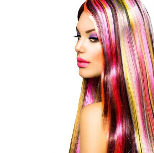 Turquiose Hair Stripe