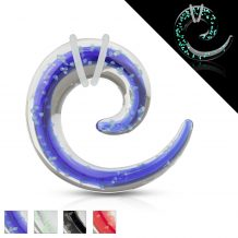 Glass spiral Glow in the Dark