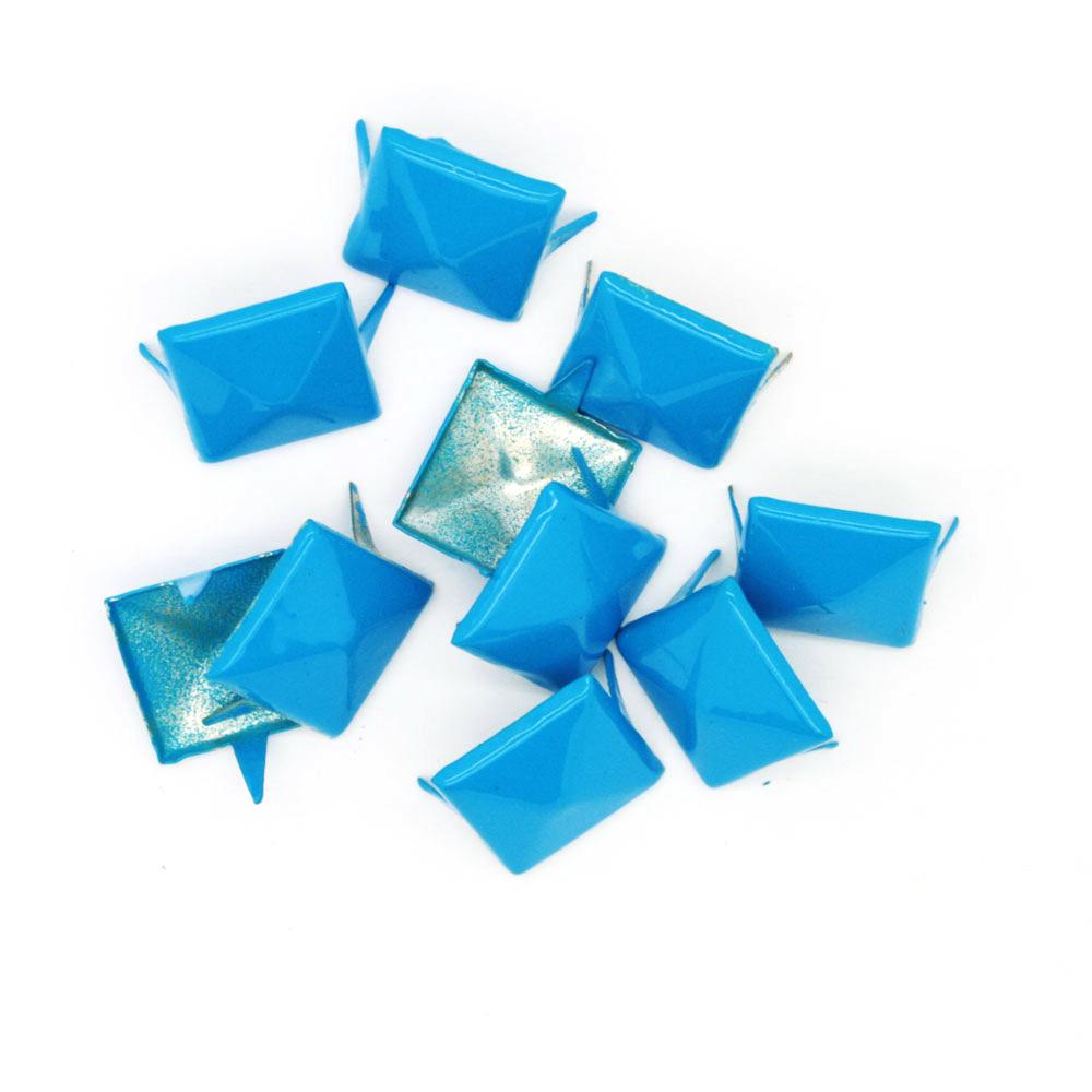 Nagler Pyramide Blå Metall 10stk