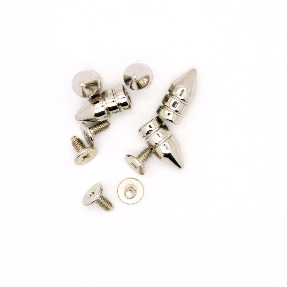 Bullet Spikes Metal 7x15mm 5stk
