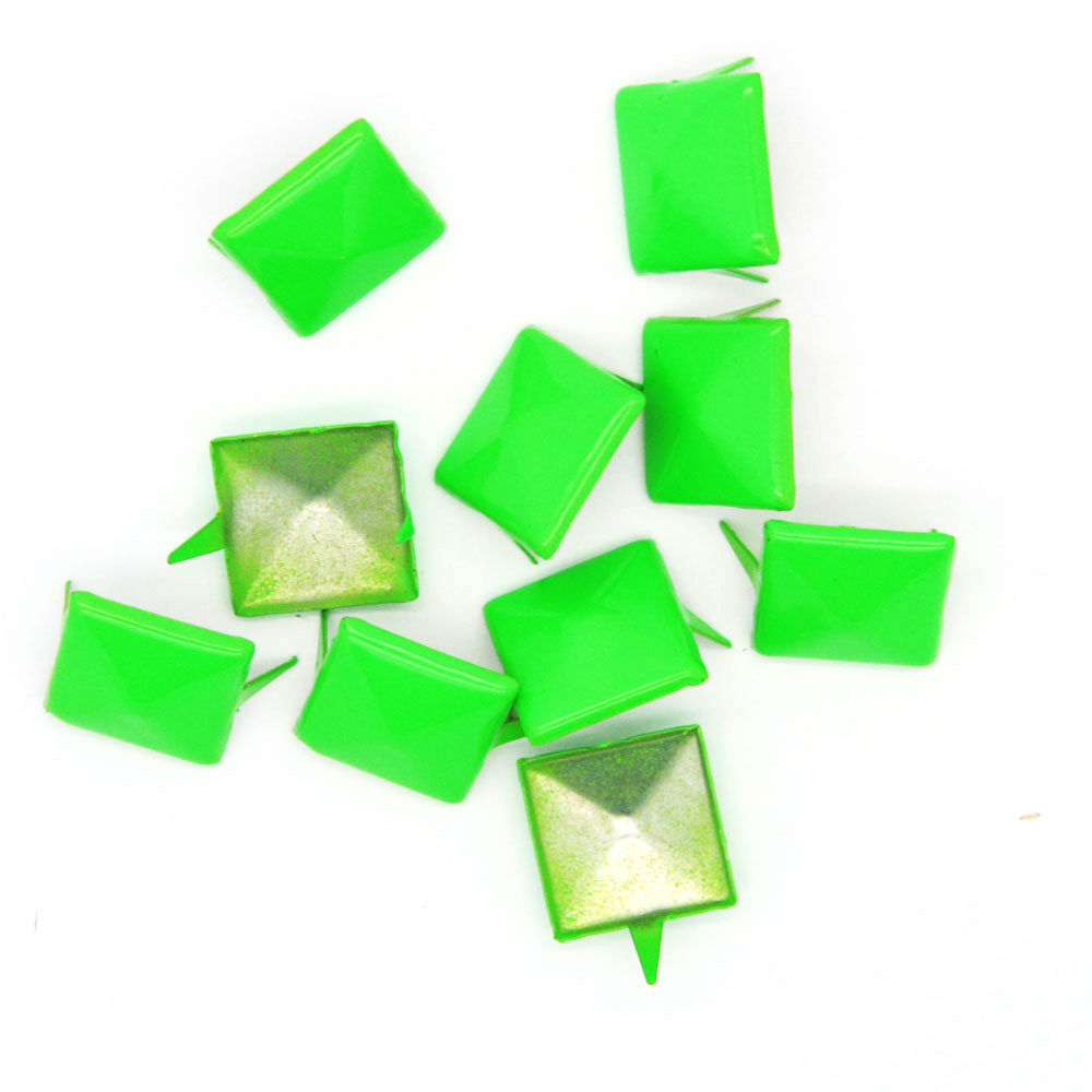 Nagler Pyramide Grønn Metall 10stk