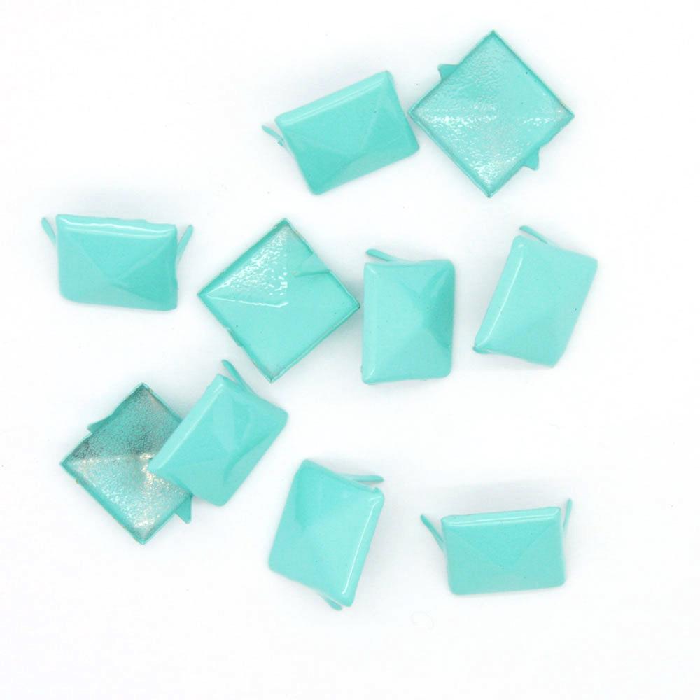 Nagler Pyramide Mintgrønn Metall 10stk