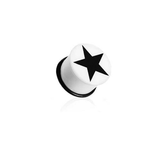 Plugg med Stjerne - Hvit