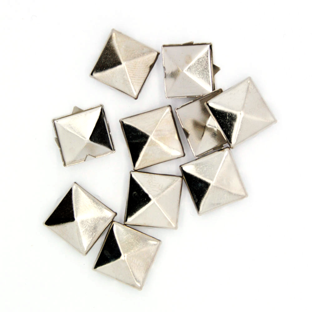 Nagler Pyramide Sølv Metall 10stk